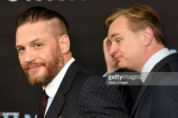 Tom Hardy and director Christopher Nolan attend the preview screening of 'Dunkirk' at BFI Southbank on July 13 2017 in London England