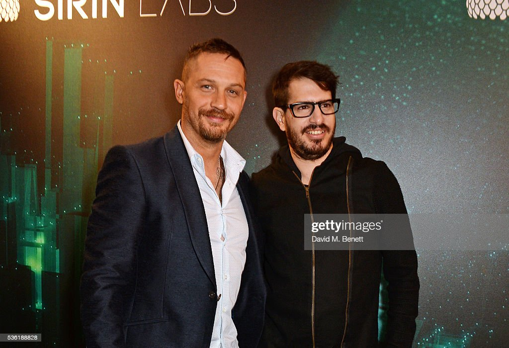 <a gi-track='captionPersonalityLinkClicked' href=/galleries/search?phrase=Tom+Hardy+-+Actor&family=editorial&specificpeople=2209780 ng-click='$event.stopPropagation()'>Tom Hardy</a> (L) and Moshe Hogeg attend as SIRIN LABS Launches SOLARIN at One Marylebone on May 31, 2016 in London, England.