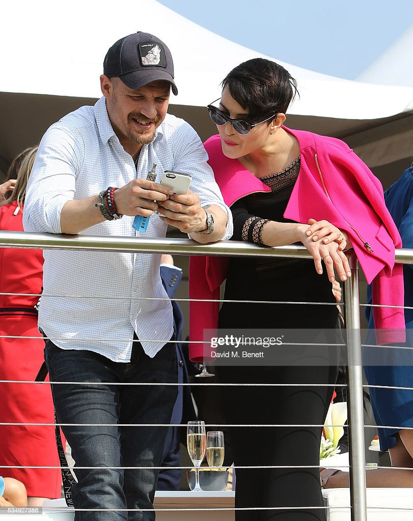 <a gi-track='captionPersonalityLinkClicked' href=/galleries/search?phrase=Tom+Hardy+-+Sk%C3%A5despelare&family=editorial&specificpeople=2209780 ng-click='$event.stopPropagation()'>Tom Hardy</a> and <a gi-track='captionPersonalityLinkClicked' href=/galleries/search?phrase=Noomi+Rapace&family=editorial&specificpeople=4522889 ng-click='$event.stopPropagation()'>Noomi Rapace</a> attend day one of the Audi Polo Challenge at Coworth Park on May 28, 2016 in London, England.