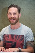 Tom Hardy at the 'Legend' Press Conference at the Park Hyatt on September 13 2015 in Toronto Ontario
