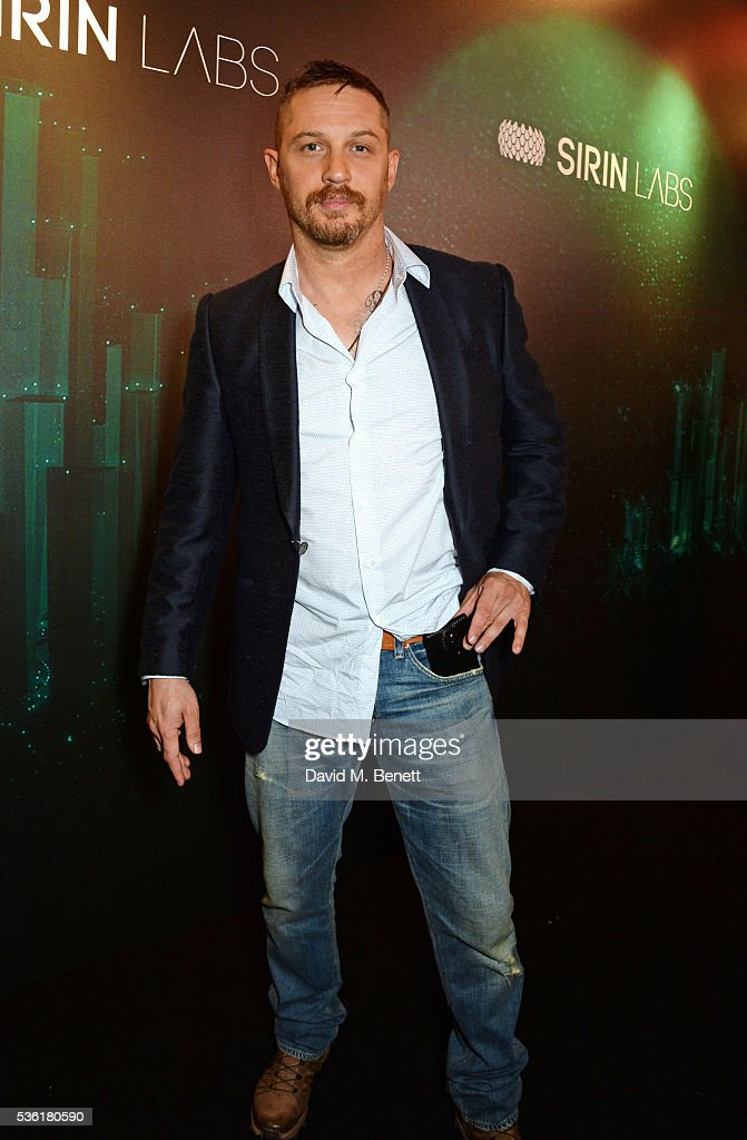 <a gi-track='captionPersonalityLinkClicked' href=/galleries/search?phrase=Tom+Hardy+-+Actor&family=editorial&specificpeople=2209780 ng-click='$event.stopPropagation()'>Tom Hardy</a> attends as SIRIN LABS Launches SOLARIN at One Marylebone on May 31, 2016 in London, England.