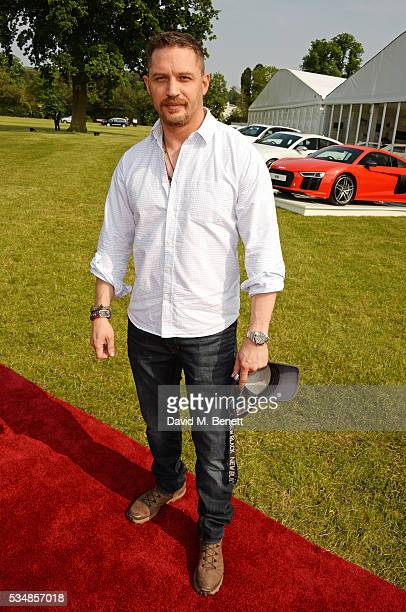 Tom Hardy attends day one of the Audi Polo Challenge at Coworth Park on May 28 2016 in London England
