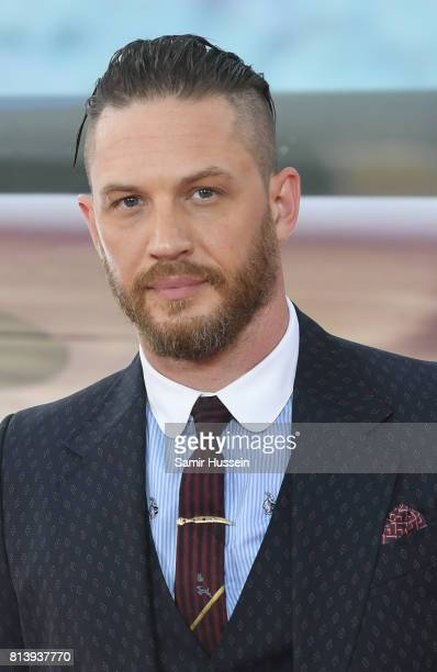 Tom Hardy attends the 'Dunkirk' World Premiere at Odeon Leicester Square on July 13 2017 in London England