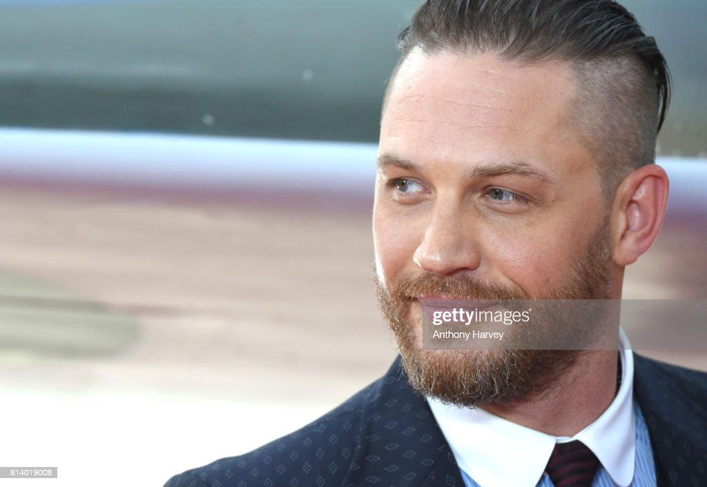 Tom Hardy attends the 'Dunkirk' World Premiere at Odeon Leicester Square on July 13, 2017 in London, England.