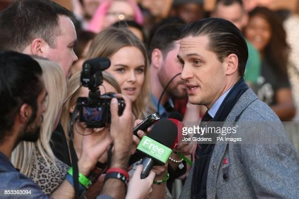 Tom Hardy attends the premiere of his film Locke at Cineworld Broad Street Birmingham