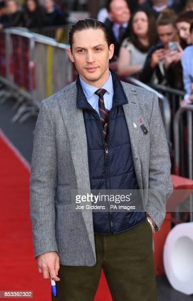 Tom Hardy attends the premiere of Locke at Cineworld Broad Street Birmingham