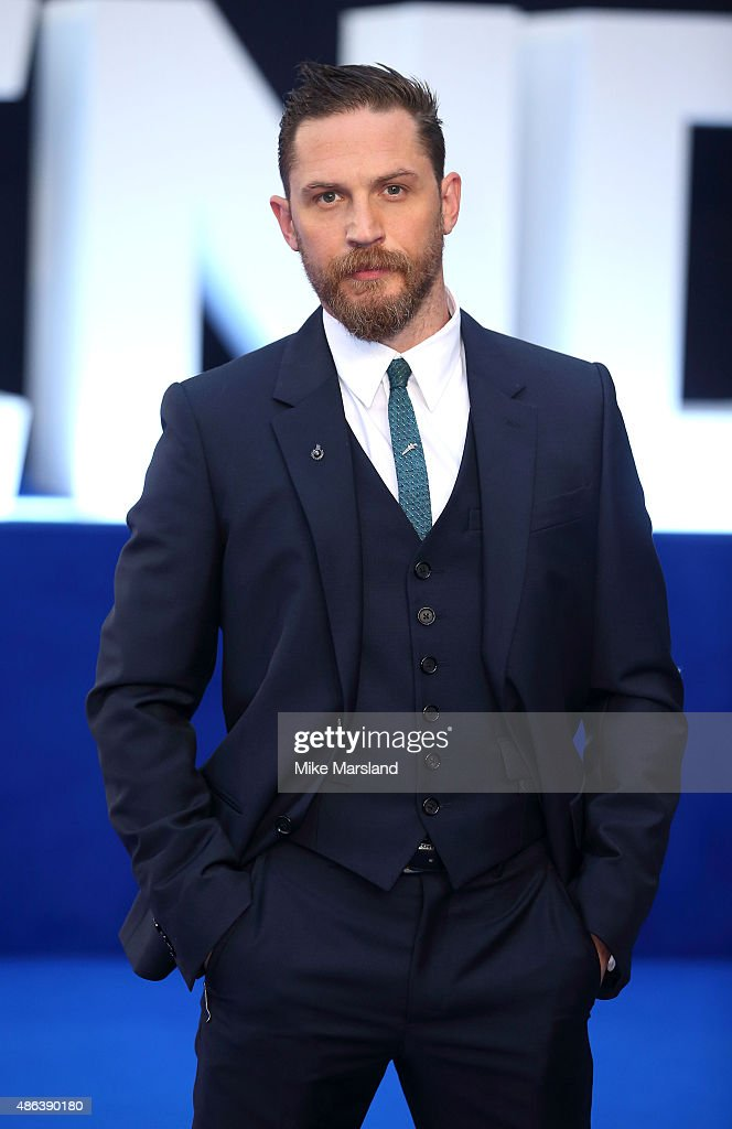 Tom Hardy, attends the UK Premiere of 'Legend' at Odeon Leicester Square on September 3, 2015 in London, England.