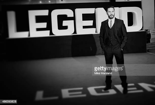 Tom Hardy attends the UK Premiere of 'Legend' at Odeon Leicester Square on September 3 2015 in London England