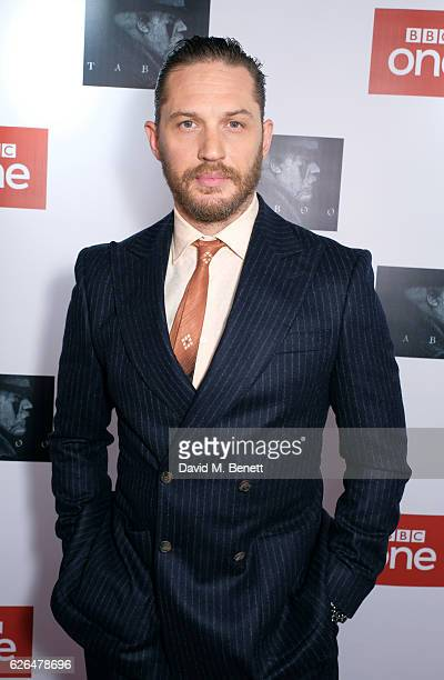 Tom Hardy attends the UK Premiere of new BBC One drama 'Taboo' at Picturehouse Central on November 29 2016 in London England