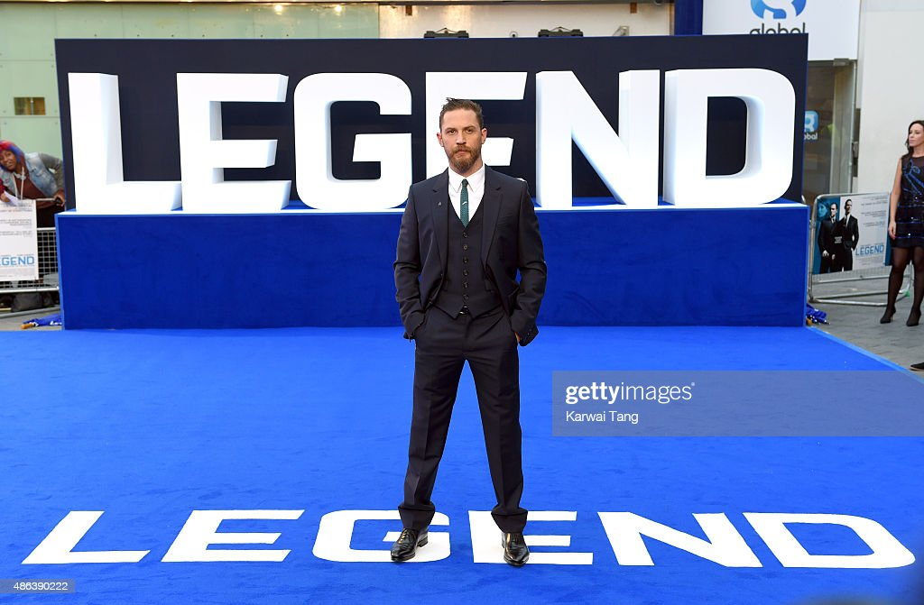 Tom Hardy attends the world premiere of 'Legend' at Odeon Leicester Square on September 3, 2015 in London, England.