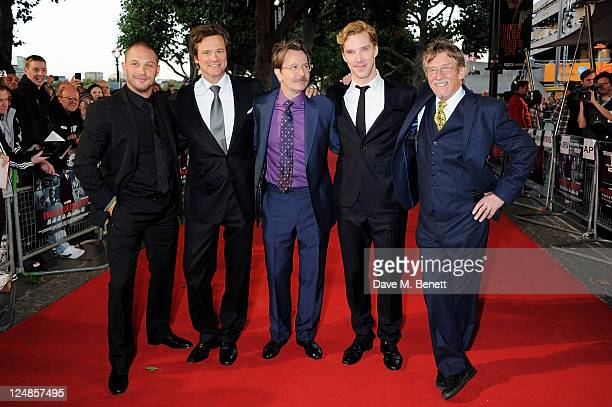 Tom Hardy Colin Firth Gary Oldman Benedict Cumberbatch and John Hurt arrive at the UK Premiere of 'Tinker Tailor Soldier Spy' at BFI Southbank on...