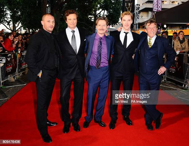 Tom Hardy Colin Firth Gary Oldman Benedict Cumberbatch and John Hurt arriving for the UK premiere of Tinker Tailor Soldier Spy at the BFI Southbank...