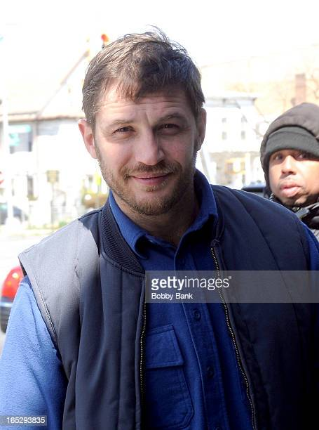 Tom Hardy filming on location for 'Animal Rescue' on April 2 2013 in the Brooklyn borough of New York City