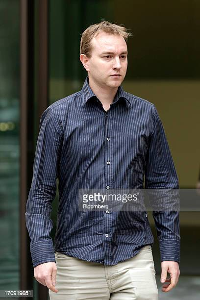 Tom Hayes a former trader at UBS AG leaves after appearing at Westminster Magistrates Court in London UK on Thursday June 20 2013 Hayes a former UBS...