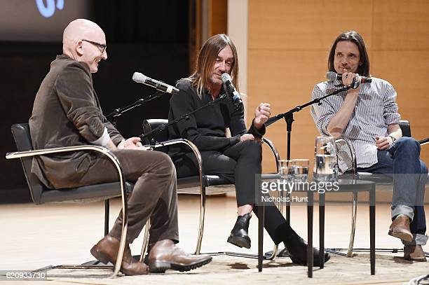 Tom Healy Iggy Pop and Jeremy Deller attend as Brooklyn Museum celebrates Marilyn Minter and Iggy Pop at Opening Night Event at Brooklyn Museum on...
