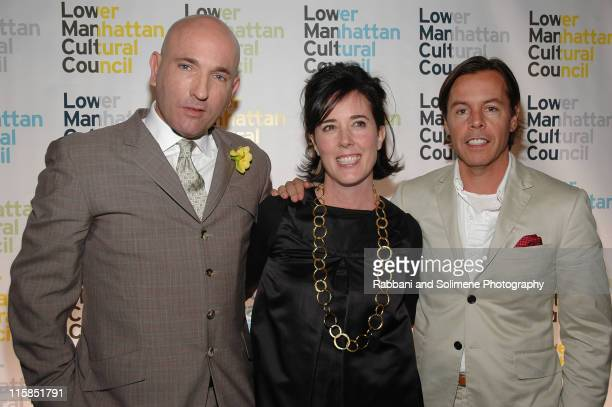 """Tom Healy Kate Spade and Andy Spade during The 17th Annual Anticipated """"Downtown Dinner"""" at Cipriani in New York City New York United States"""