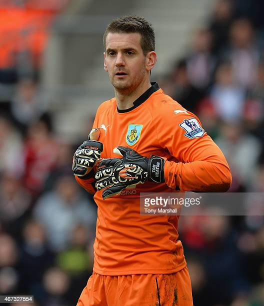 Tom Heaton of Burnley during the Barclays Premier League match between Southampton and Burnley at St Mary's Stadium on March 21 2015 in Southampton...
