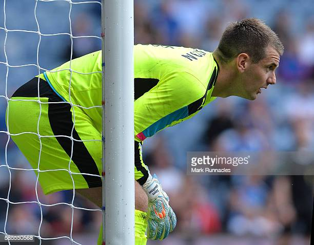 Tom Heaton of Burnley in action during a preseason friendly between Rangers FC and Burnley FC at Ibrox Stadium on July 30 2016 in Glasgow Scotland
