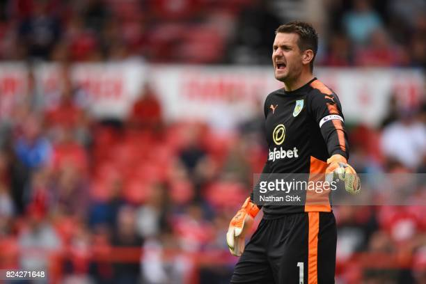Tom Heaton of Burnley in action during the pre season friendly match between Nottingham Forest and Burnley at the City Ground on July 29 2017 in...