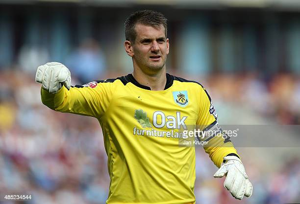 Tom Heaton of Burnley look on during the Sky Bet Championship match between Burnley and Brentford at Turf Moor on August 22 2015 in Burnley England