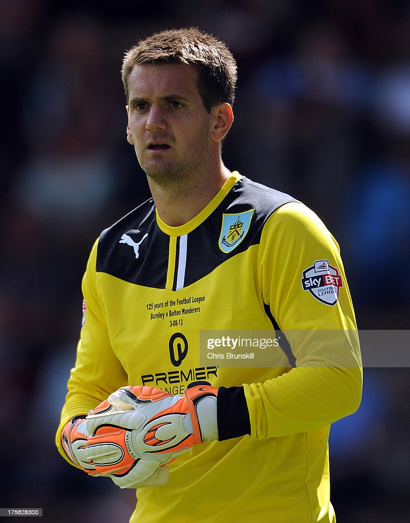 Tom Heaton of Burnley looks on during the Sky Bet Championship match between Burnley and Bolton Wanderers at Turf Moor on August 03, 2013 in Burnley, England.