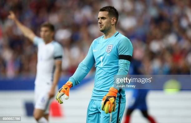 Tom Heaton of England looks on during the International Friendly match between France and England at Stade de France on June 13 2017 in Paris France