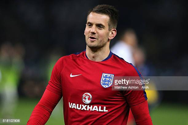 Tom Heaton of England warms up prior to the International Friendly match between Germany and England at Olympiastadion on March 26 2016 in Berlin...