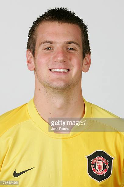 Tom Heaton of Manchester United poses during an official photocall at Carrington Training Ground on August 10 2006 in Manchester England