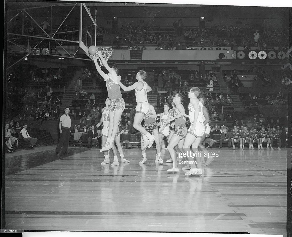 Tom Heinsohn Grabbing a Rebound