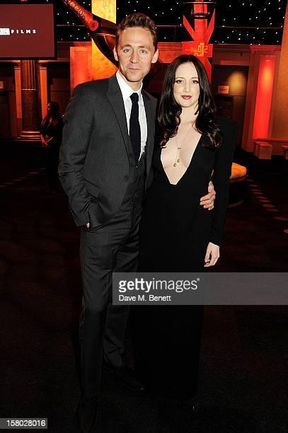 Tom Hiddleston and Andrea Riseborough attend the Moet British Independent Film Awards at Old Billingsgate Market on December 9 2012 in London England