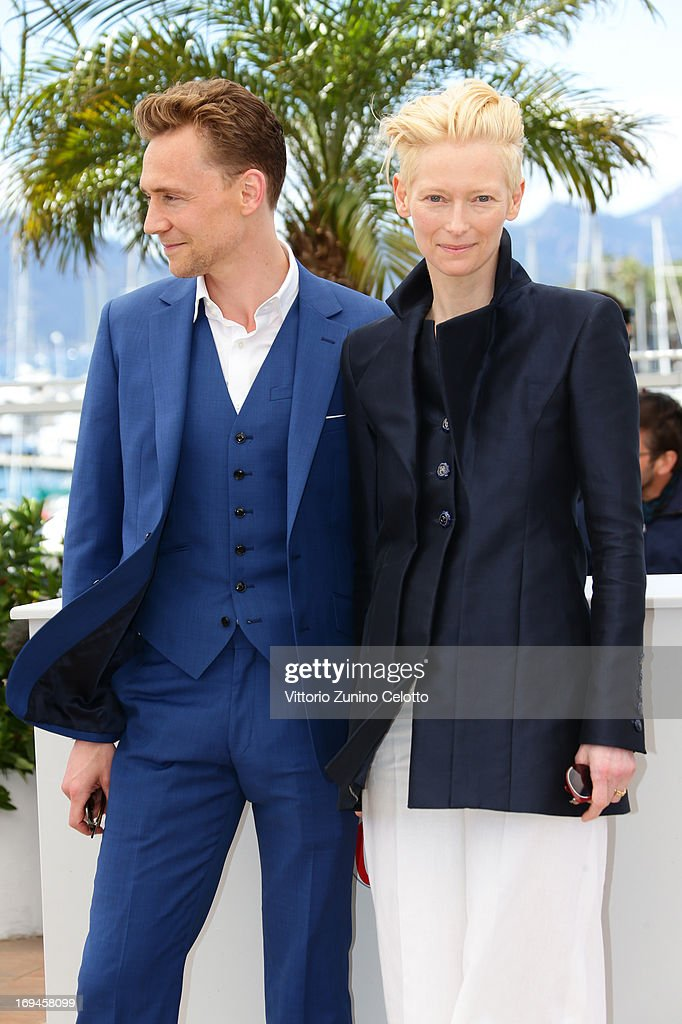 <a gi-track='captionPersonalityLinkClicked' href=/galleries/search?phrase=Tom+Hiddleston&family=editorial&specificpeople=4686407 ng-click='$event.stopPropagation()'>Tom Hiddleston</a> and <a gi-track='captionPersonalityLinkClicked' href=/galleries/search?phrase=Tilda+Swinton&family=editorial&specificpeople=202991 ng-click='$event.stopPropagation()'>Tilda Swinton</a> attend the 'Only Lovers Left Alive' photocall during The 66th Annual Cannes Film Festival at Palais des Festival on May 25, 2013 in Cannes, France.