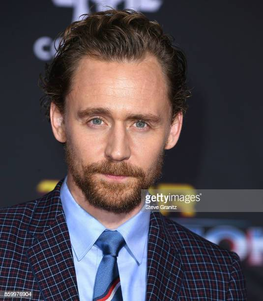Tom Hiddleston arrives at the Premiere Of Disney And Marvel's 'Thor Ragnarok' on October 10 2017 in Los Angeles California