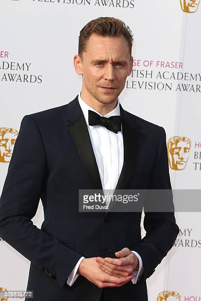 Tom Hiddleston arrives for the House Of Fraser British Academy TelevisionAwards 2016 at the Royal Festival Hall on May 8 2016 in London England