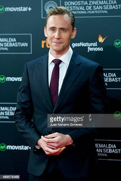 Tom Hiddleston attends 'HighRise' premiere during 63rd San Sebastian Film Festival on September 22 2015 in San Sebastian Spain