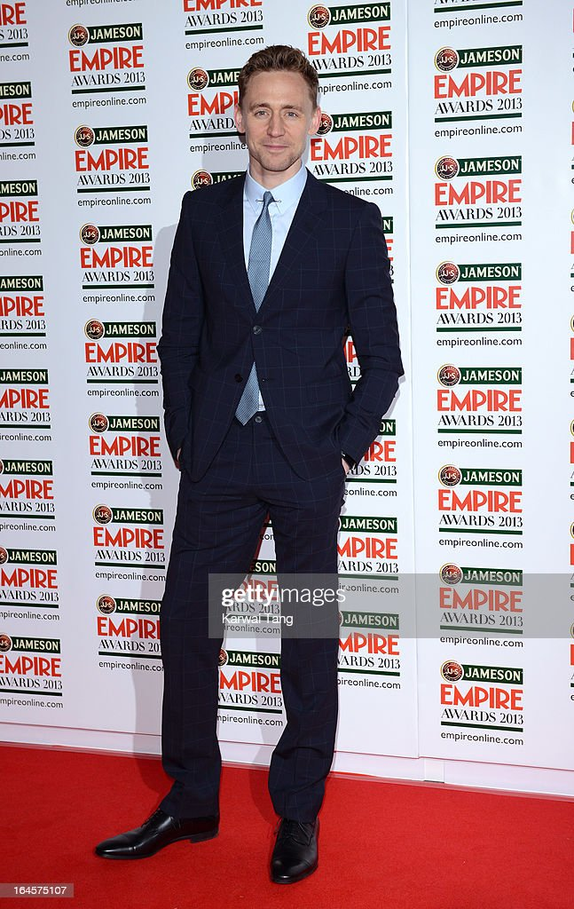 Tom Hiddleston attends the 18th Jameson Empire Film Awards at Grosvenor House, on March 24, 2013 in London, England.