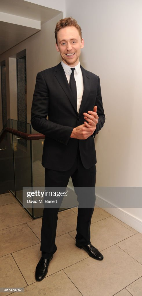 <a gi-track='captionPersonalityLinkClicked' href=/galleries/search?phrase=Tom+Hiddleston&family=editorial&specificpeople=4686407 ng-click='$event.stopPropagation()'>Tom Hiddleston</a> attends the after party on the press night of 'Coriolanus' at The Hospital Club on December 17, 2013 in London, England.
