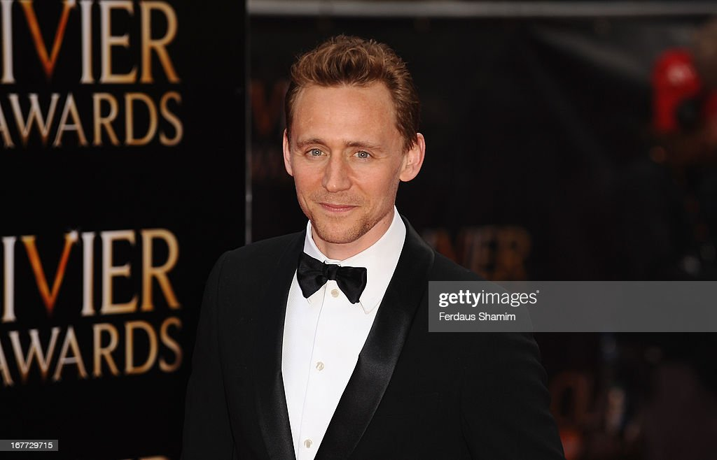 Tom Hiddleston attends The Laurence Olivier Awards at The Royal Opera House on April 28, 2013 sLondon, England.