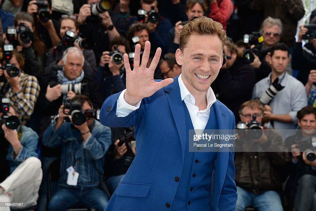 Tom Hiddleston attends the 'Only Lovers Left Alive' Photocall during The 66th Annual Cannes Film Festival on May 25, 2013 in Cannes, France.