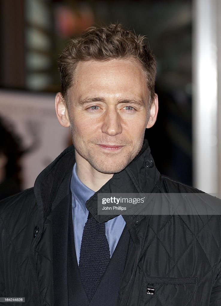 <a gi-track='captionPersonalityLinkClicked' href=/galleries/search?phrase=Tom+Hiddleston&family=editorial&specificpeople=4686407 ng-click='$event.stopPropagation()'>Tom Hiddleston</a> attends the press night for 'The Book of Mormon' at Prince Of Wales Theatre on March 21, 2013 in London, England.