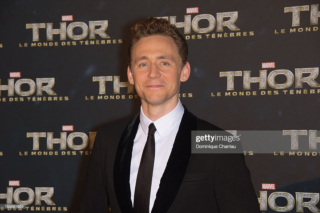 Tom Hiddleston attends the 'Thor: The Dark World' Paris Premiere at Le Grand Rex on October 23, 2013 in Paris, France.