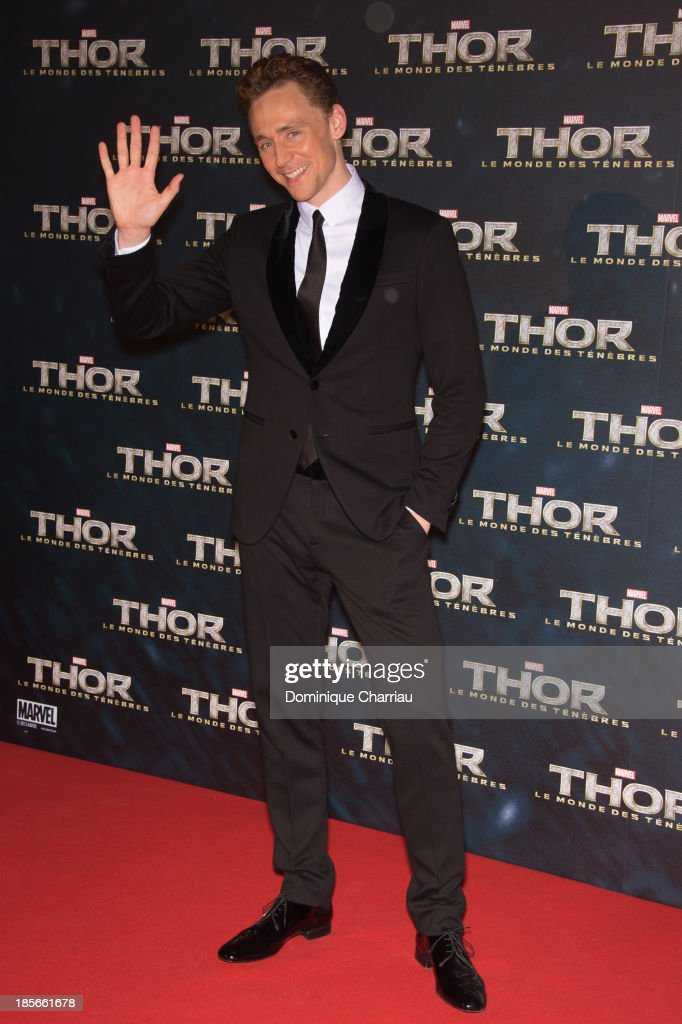 <a gi-track='captionPersonalityLinkClicked' href=/galleries/search?phrase=Tom+Hiddleston&family=editorial&specificpeople=4686407 ng-click='$event.stopPropagation()'>Tom Hiddleston</a> attends the 'Thor: The Dark World' Paris Premiere at Le Grand Rex on October 23, 2013 in Paris, France.