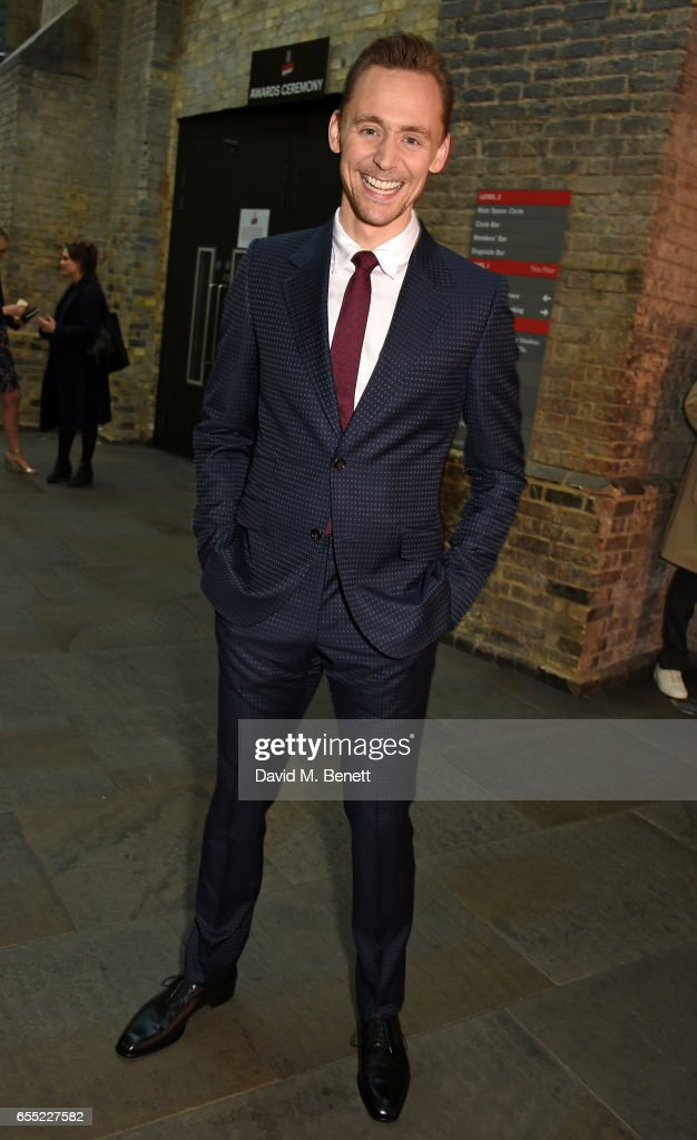 Tom Hiddleston attends the THREE Empire awards at The Roundhouse on March 19, 2017 in London, England.