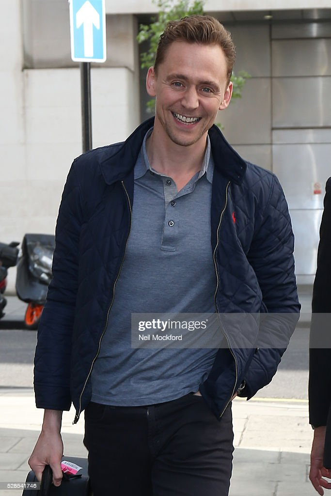 Tom Hiddleton seen at BBC Radio One on May 06, 2016 in London, England.