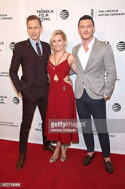 Tom Hiddleston Sienna Miller and Luke Evans attend 'HighRise' Premiere 2016 Tribeca Film Festival at SVA Theatre 2 on April 20 2016 in New York City