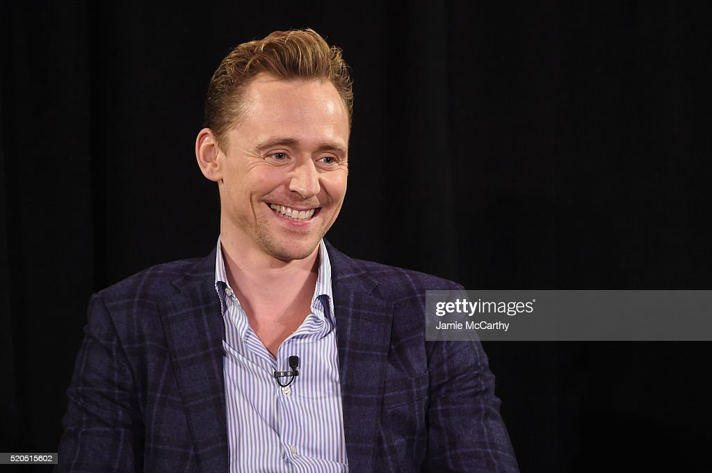 Tom Hiddleston speaks onstage during The New York Times TimesTalks at Directors Guild of America Theater on April 11, 2016 in New York City.