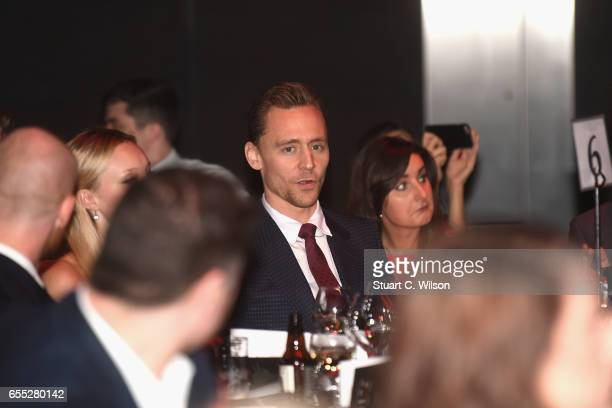 Tom Hiddleston wins the award for Best TV Series during the THREE Empire awards at The Roundhouse on March 19 2017 in London England