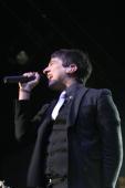 Tom Higgenson lead singer for Plain White T's performs live at the Wachovia Spectrum November 1 2008 in Philadelphia Pennsylvania