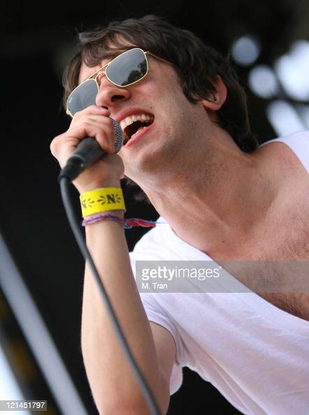 Tom Higgenson of Plain White T's during KROQ Weenie Roast Y Fiesta 2007 Show at Verizon Amphitheater in Irvine California United States