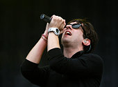 Tom Higgenson of Plain White T's performs at the Reading Festival on August 24 2008 in Reading England