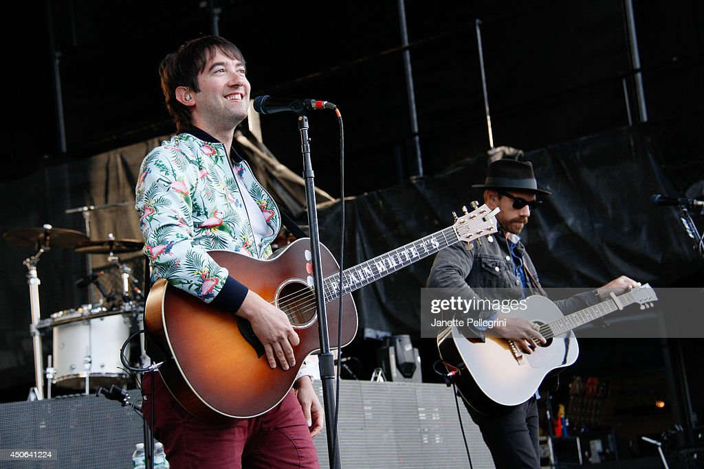 Tom Higgenson of Plain White T's performs in concert at Nikon at Jones Beach Theater on June 14, 2014 in Wantagh, New York.